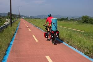 велопоход по Южной Корее с ребенком в велокресле